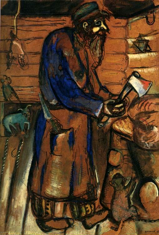 Carnicero, pintado por Marc Chagall