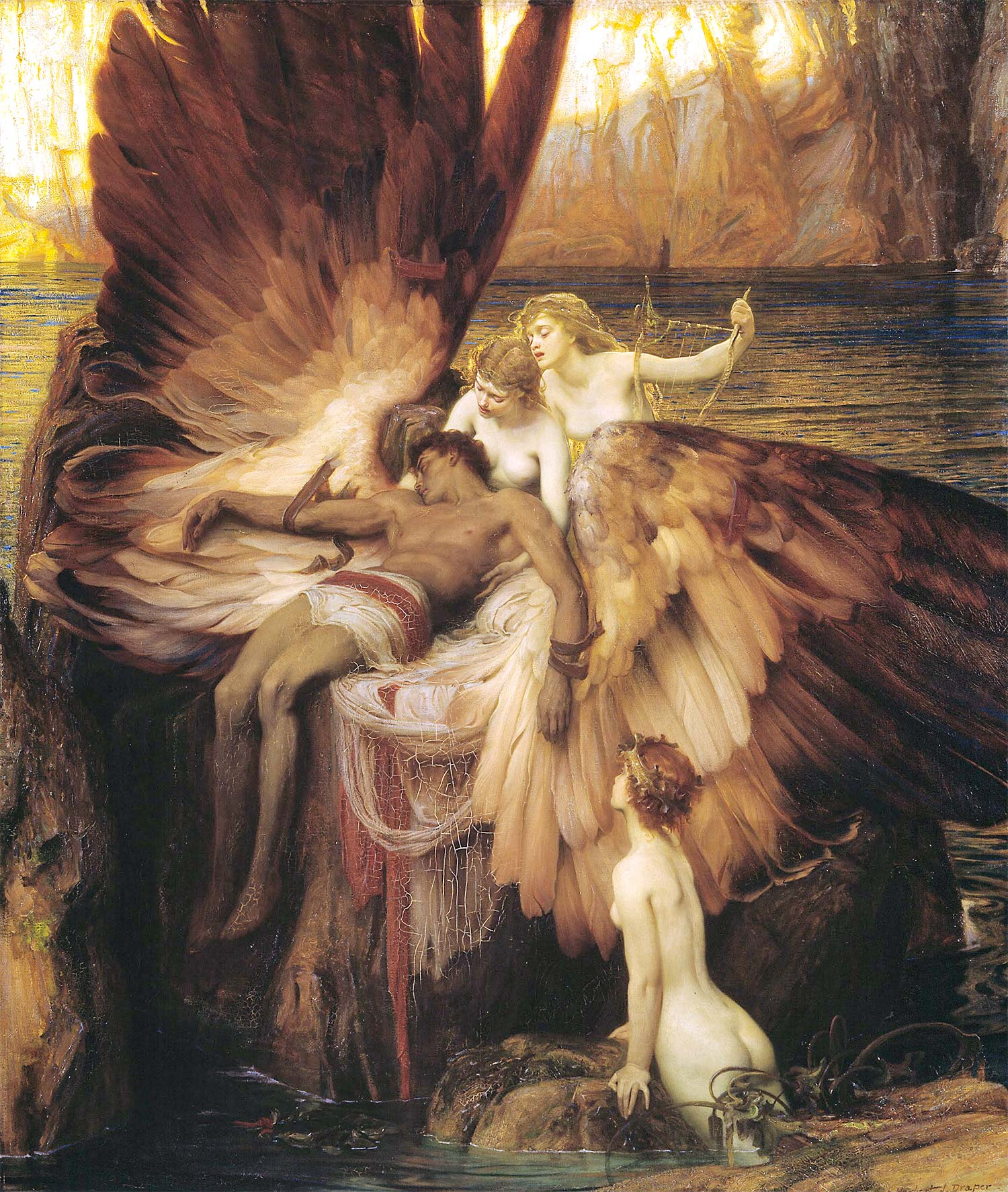 Lament for Icarus by Herbert Draper