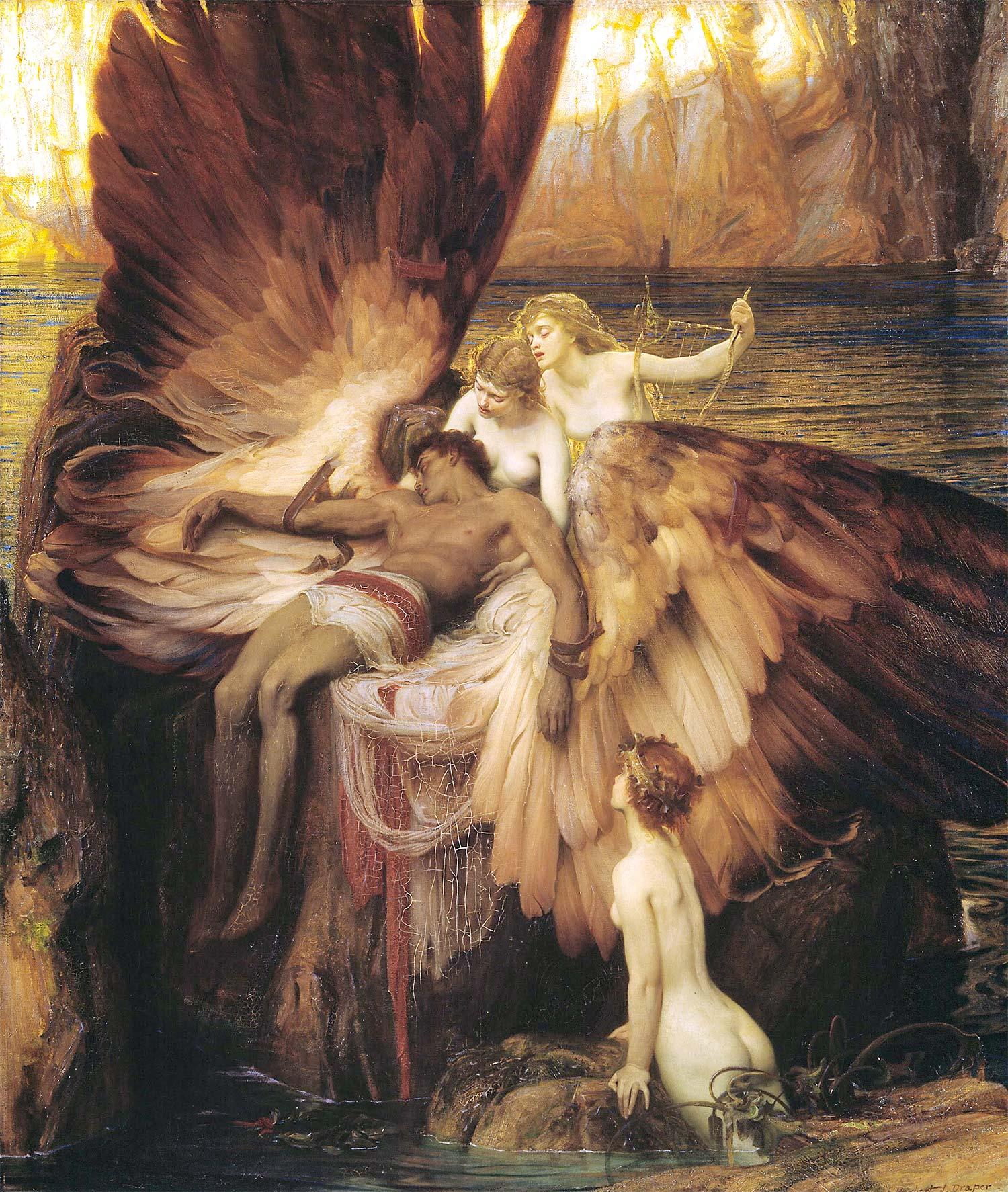 Lamento por Icarus, de Herbert Draper