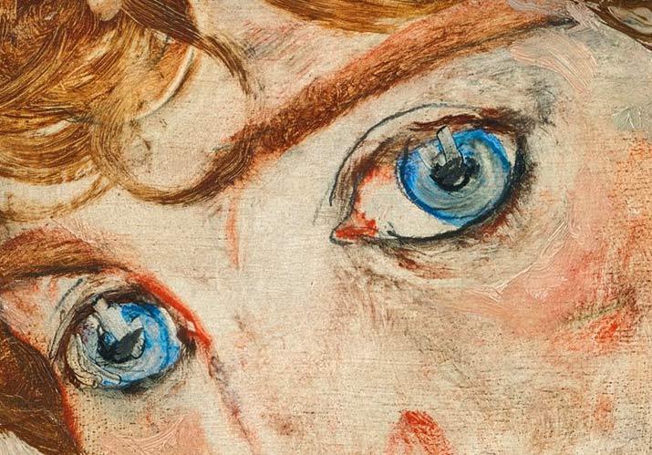 Pintar ojos, por Egon Schiele