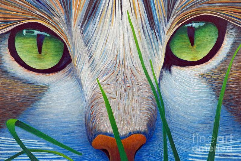 pintar ojos u un gato