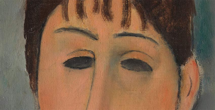 Pintar ojos Modigliani