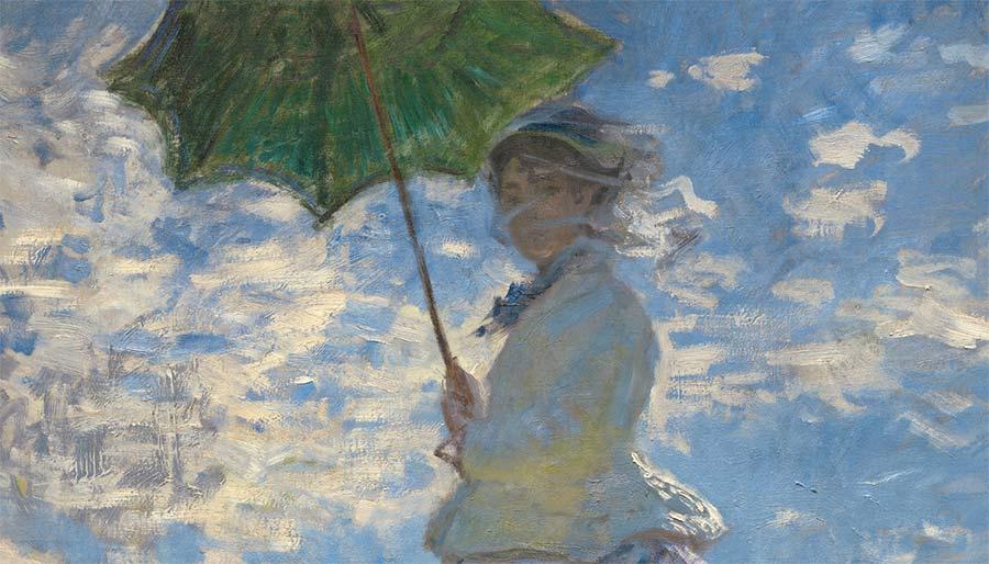 Mujer con una sombrilla, de Monet,
