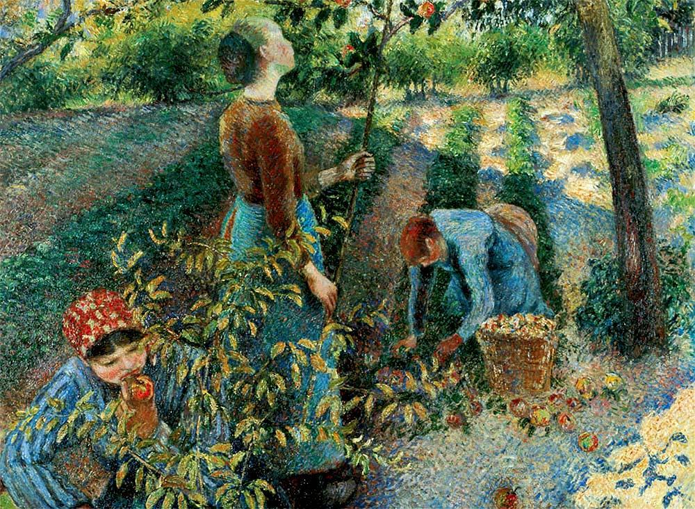 Recogida de las manzanas, de Pizarro