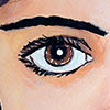 Pintar las perlas de tus ojos
