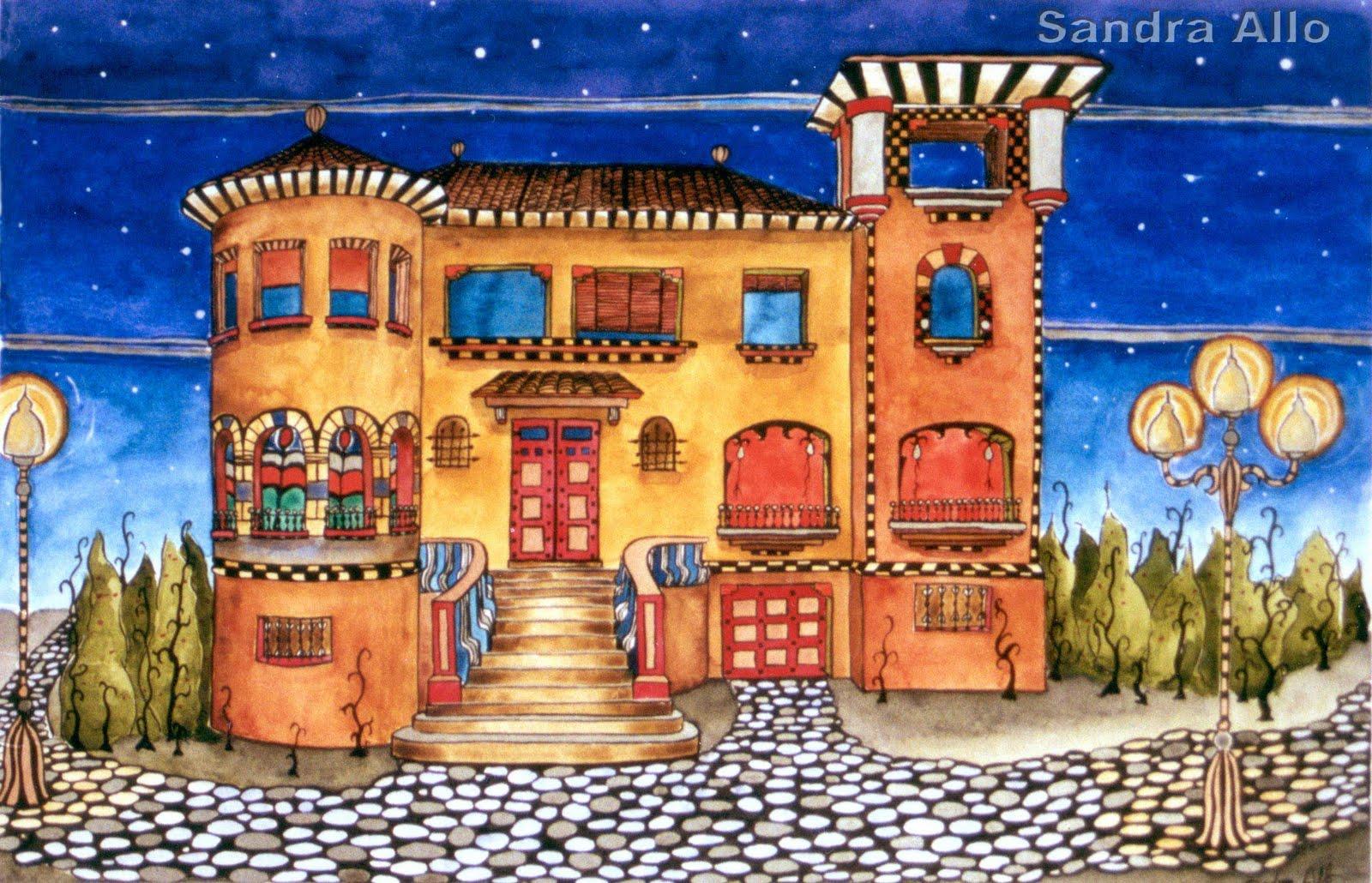 Las casas como protagonistas en la pintura y el dibujo for La casa de las pinturas
