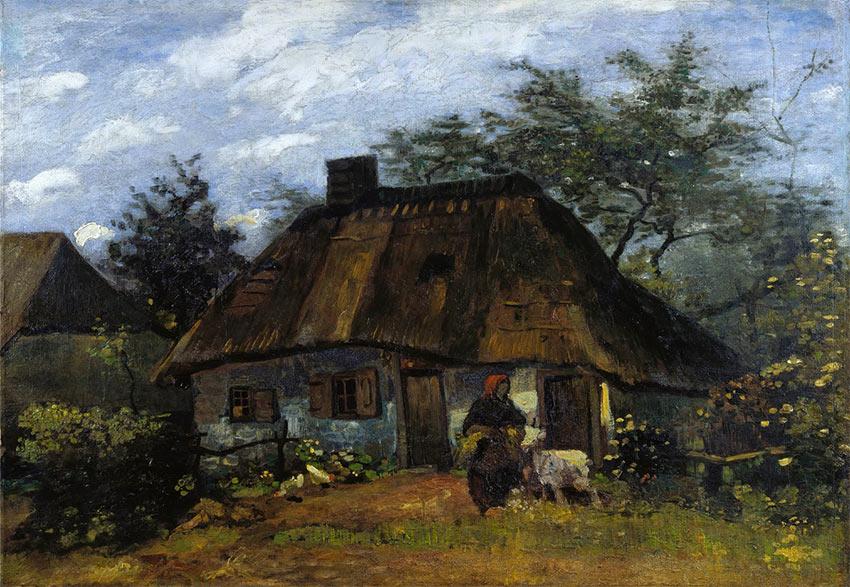 Pintar casas - Van Gogh, granja en Nuenen