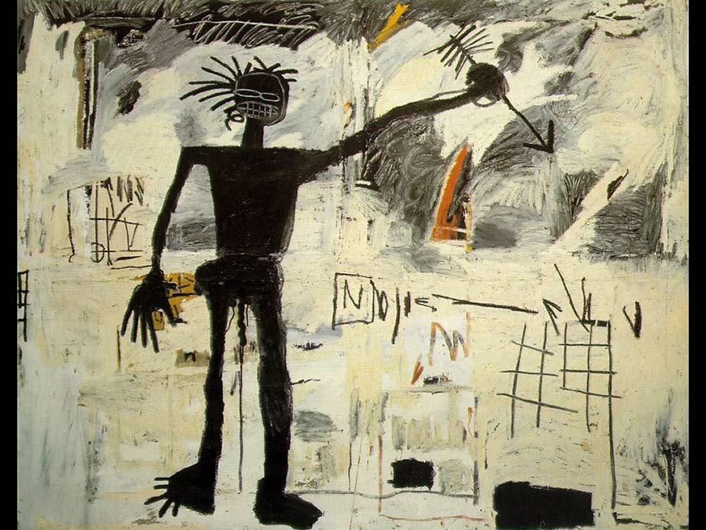 Autorretrato con una flecha. de Jean Michel Basquiat