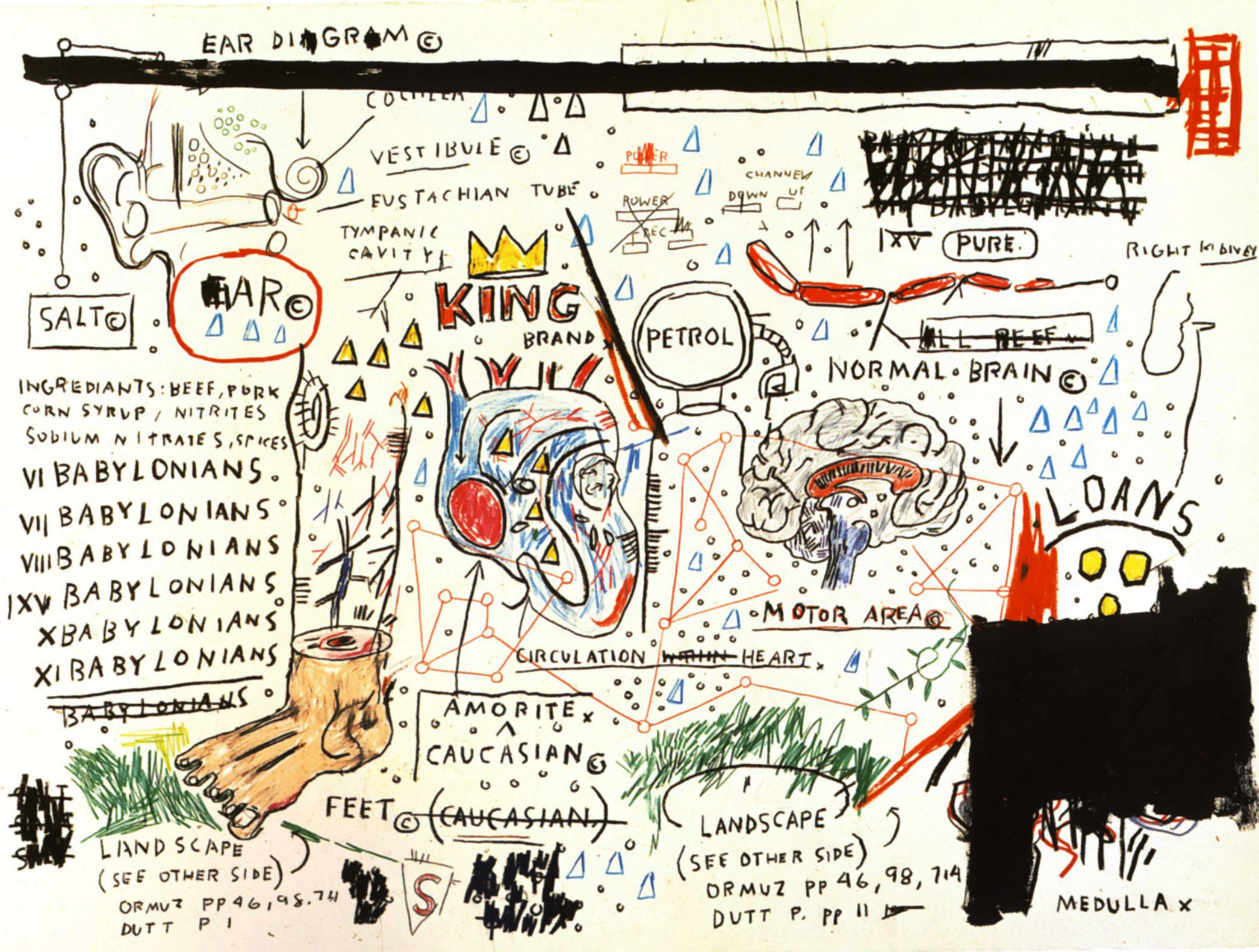 King Brand, marca del rey, de Jean Michel Basquiat