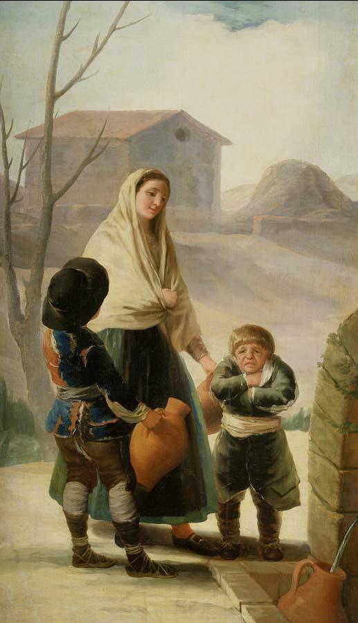 Los pobres en la fuente, de Goya