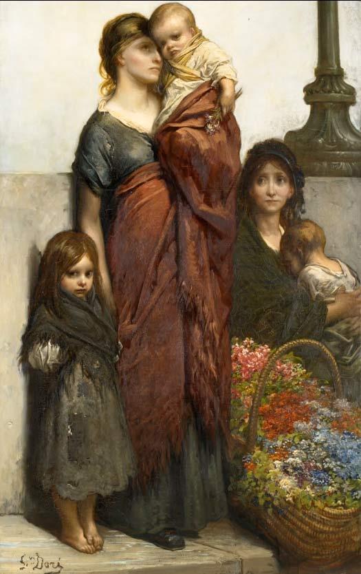 Vendedoras de flores en Londres, de Gustave Doré