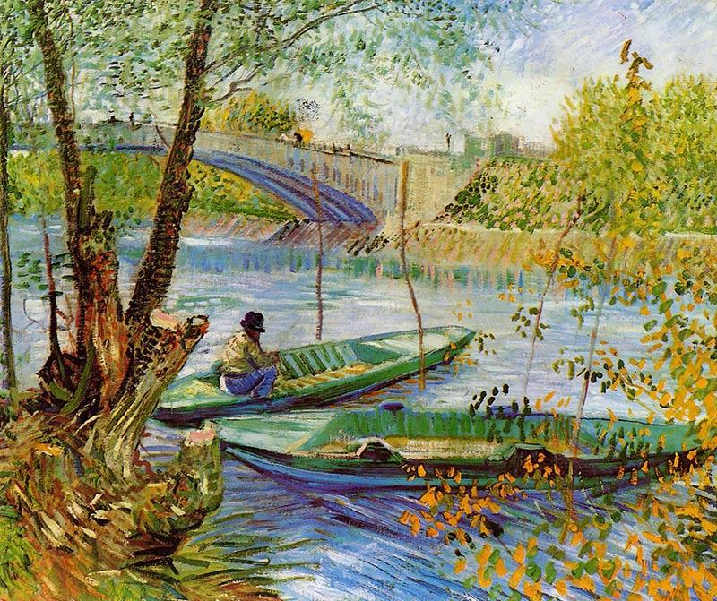 Van Gogh, La pesca en primavera en el puente de Clichy