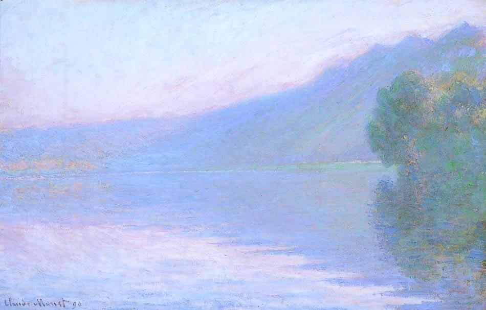 El río Sena por Rouen, pintura de Monet