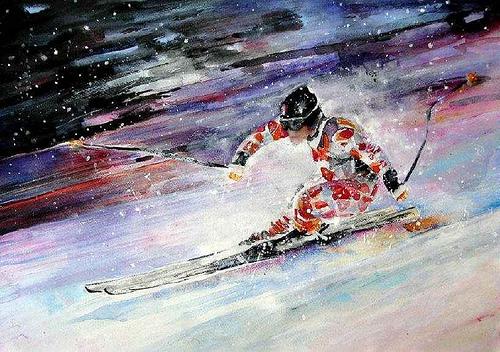 Esquiador de Miki Goodaboom