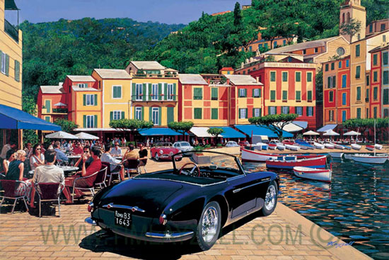 Pintura de Portofino, Italia.