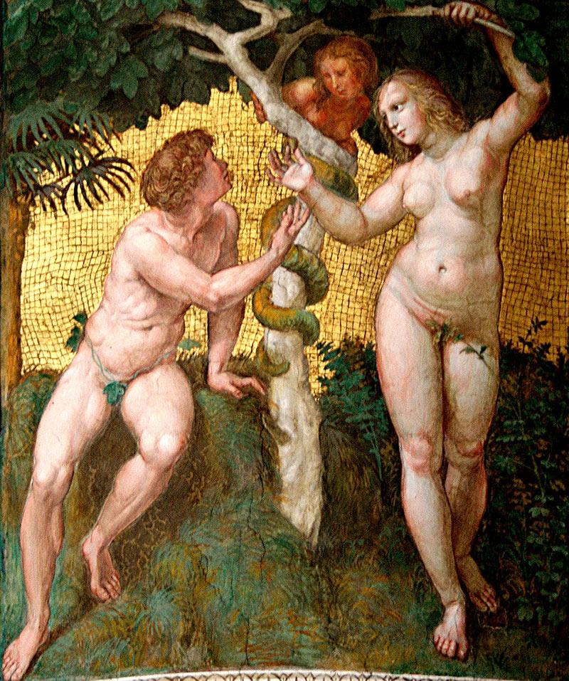 Adán y Eva de Raphael Sanzio
