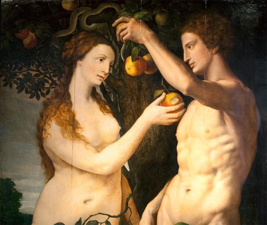 Adán y Eva de Frans Floris