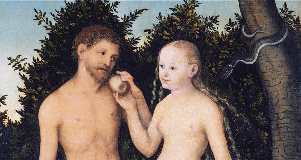Adán y Eva de Lucas Cranach