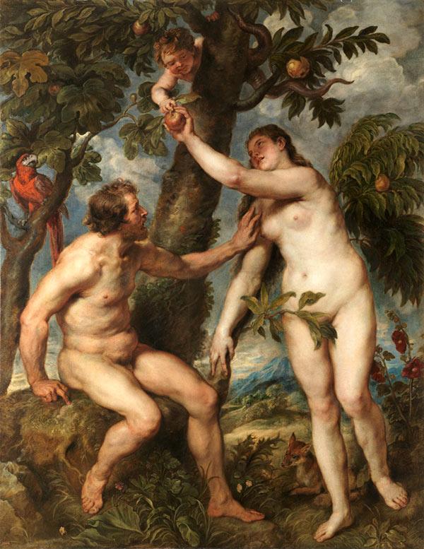 Adán y Eva de Rubens