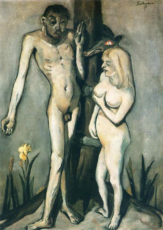 Adán y Eva de Max Beckmann