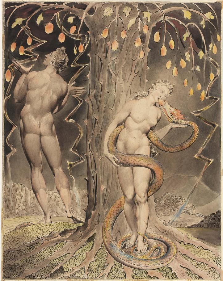 Adán y Eva de Wiliam Blake
