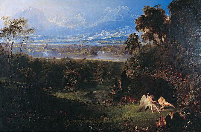 Adán y Eva de John Martín