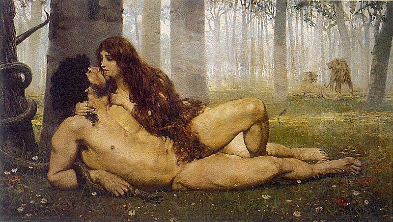 Adán y Eva de  Salvador Viniegra