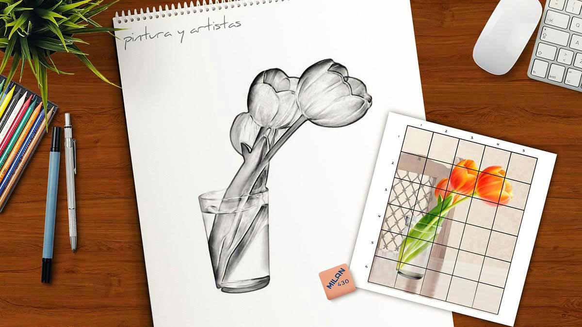 Dibujar con una cuadrícula
