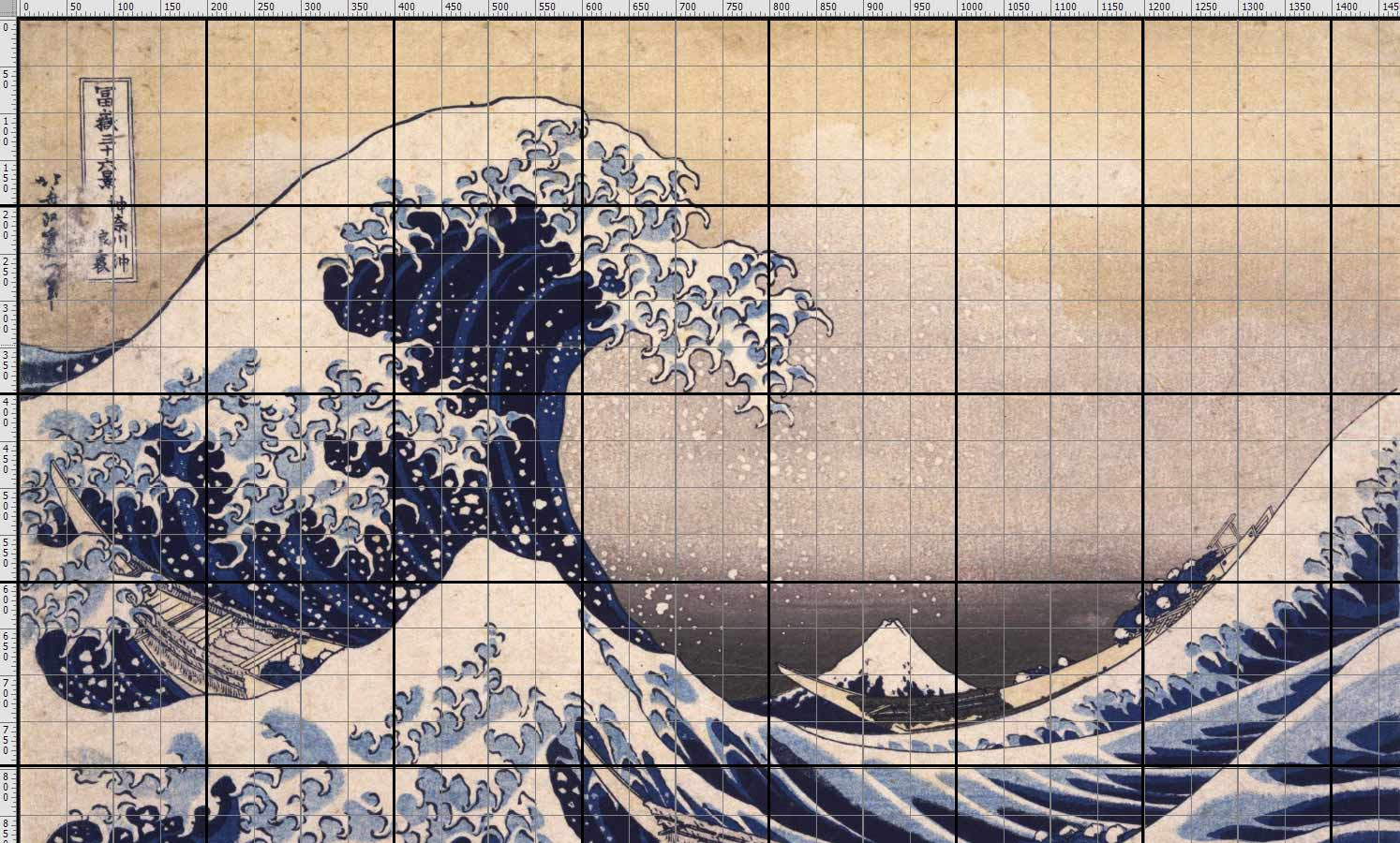 To draw The great wave of Hokusai