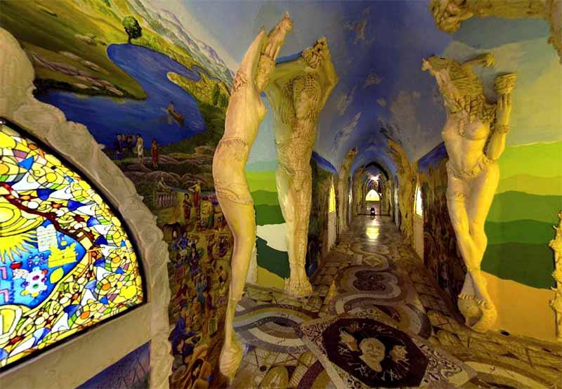 Sala del laberinto, Templos de la humanidad de Damanhur