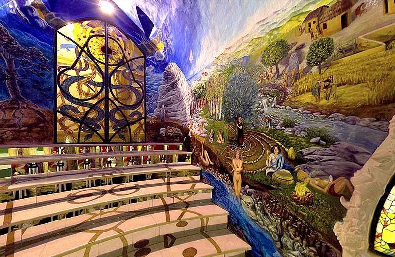 Sala del laberinto, Templos dela humanidad de Damanhur