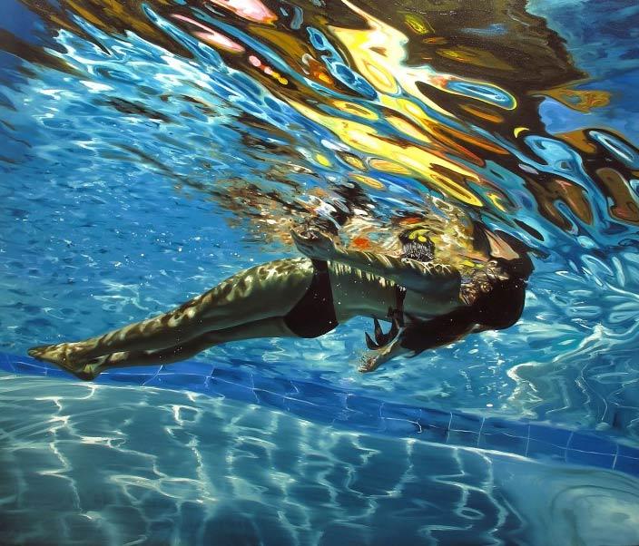 Luz líquida, pintura de Eric Zener
