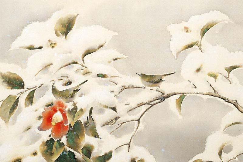 Pájaros y nieve