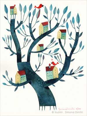 Pintura de un árbol de Simona Dimitri