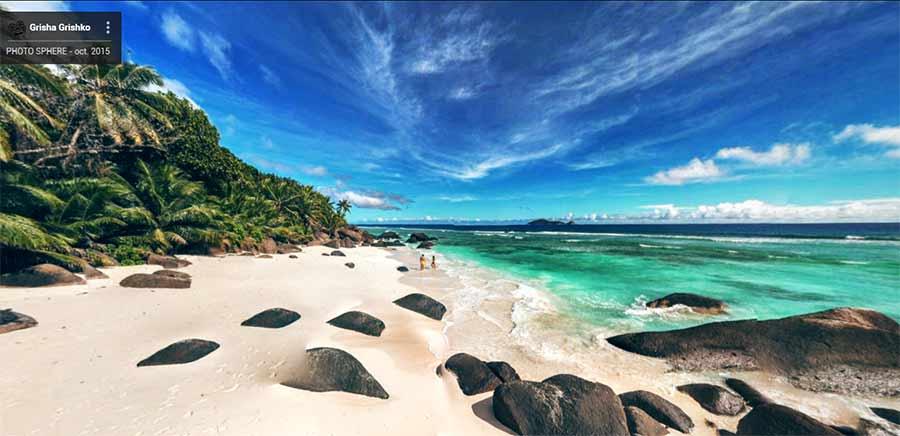 Vistas de las islas Seychelles