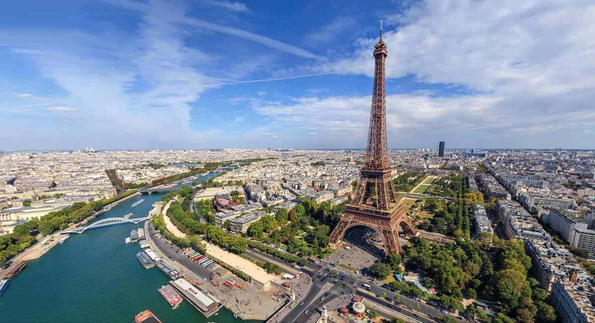 Vistas de la torre Eiffel de Paris