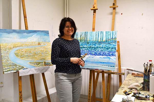 Cristina Alejos en el Atelier
