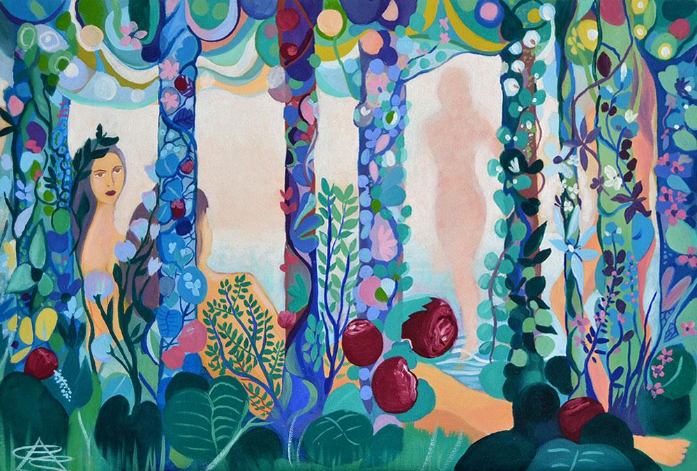 La Feminidad, Pintura al óleo de Cristina Alejos