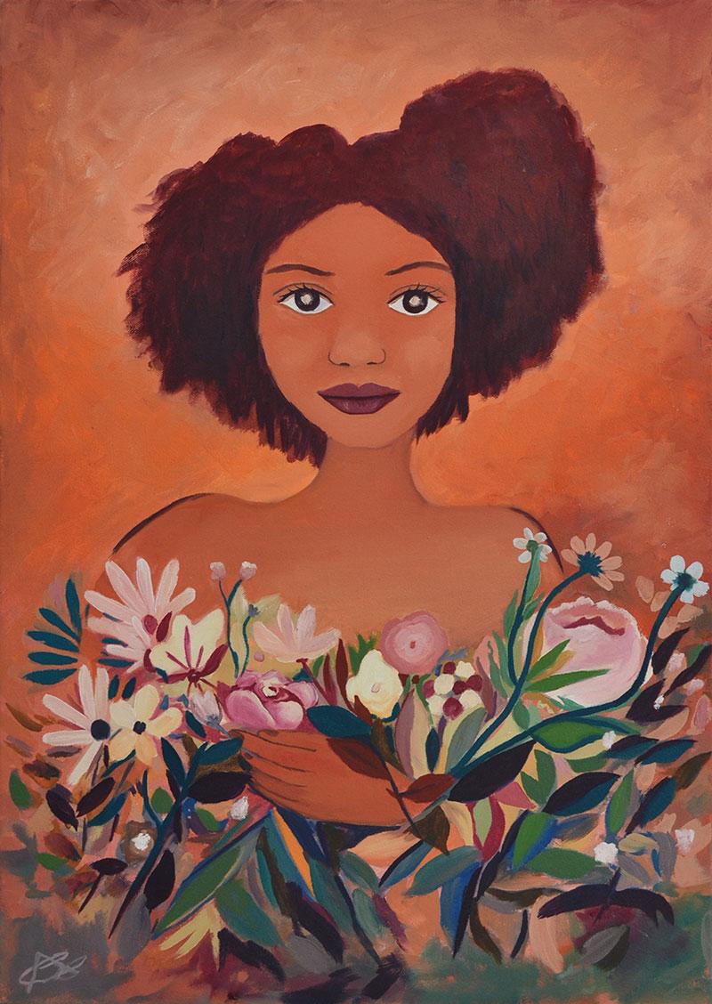 Flores para Erika, pintura al óleo de Cristina Alejos