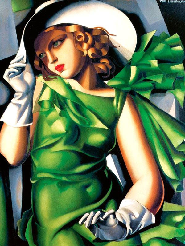 Mujer con guantes de Tamara de Lempicka.