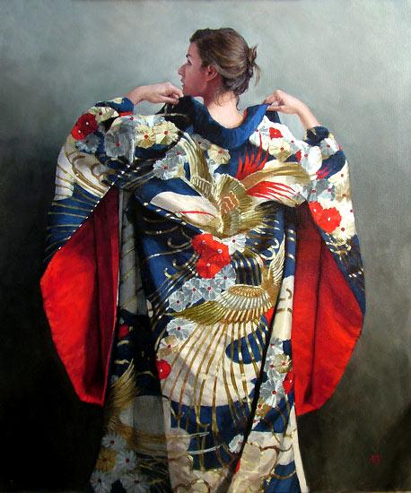 Blue Uchiake Kimono