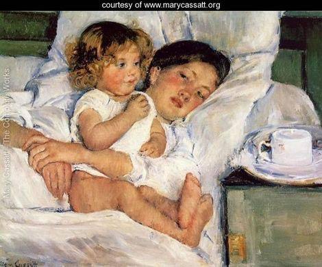 Desayuno en la cama, de Mary Cassat