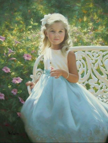 Retrato de una niña de Brian Neher