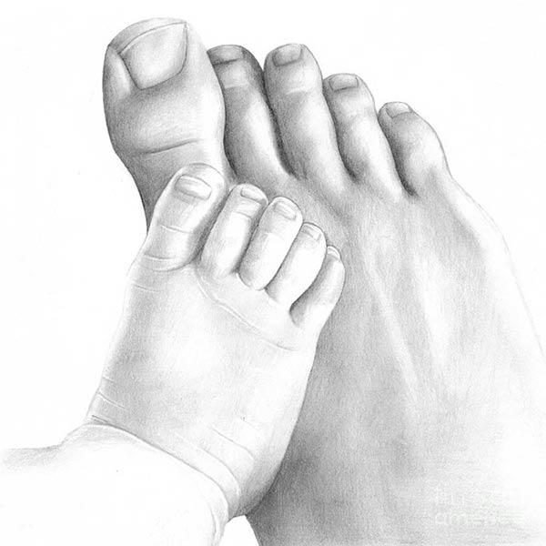 Pies de bebé y papá, de Dominique Kang