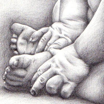 Manos y pies de un bebé
