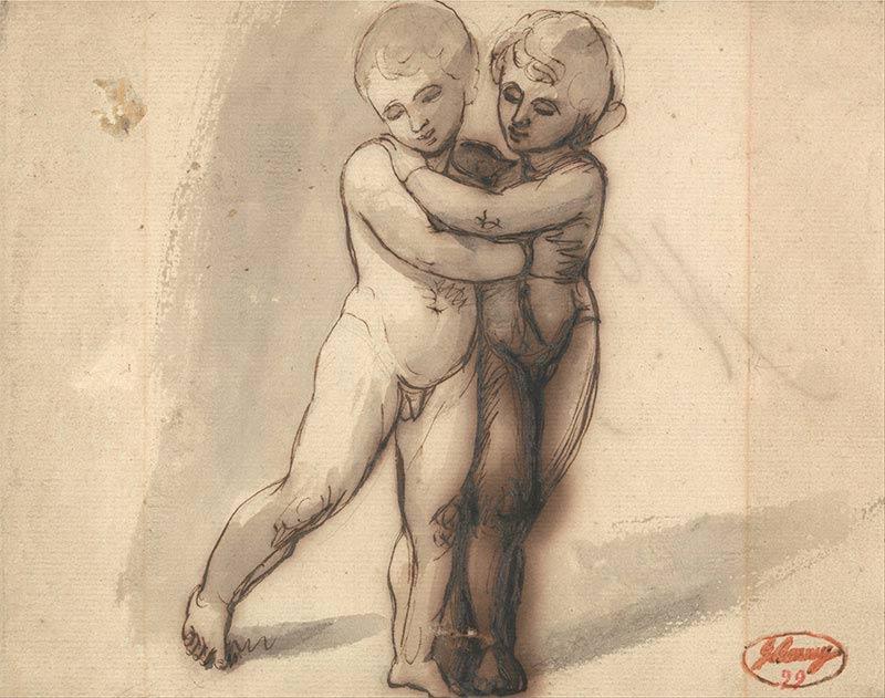Dos niños desnudos de Romney
