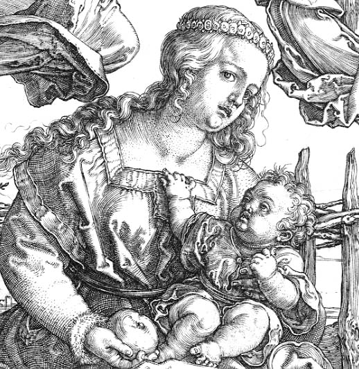 La virgen y el niño de Durero