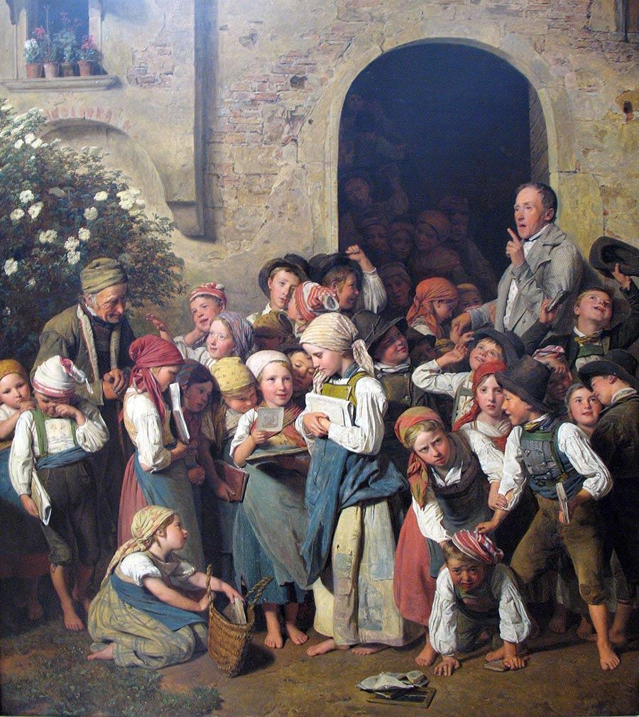 Salida de la escuela de Ferdinand Georg Waldmüller.