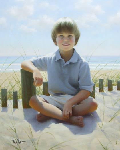 Retrato de un niño de Brian Neher
