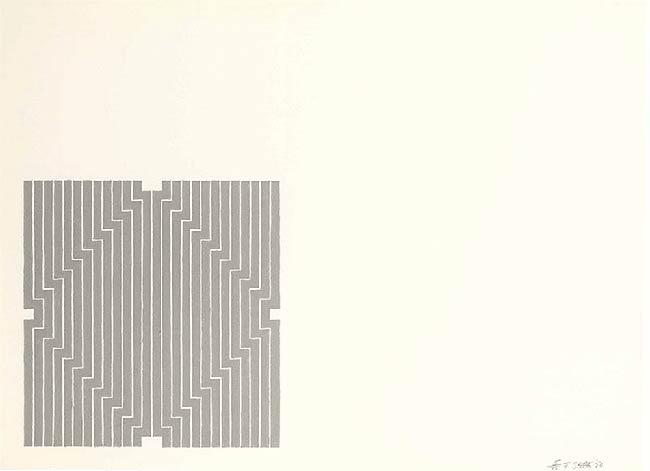 Pintura minimalista de Frank Stella